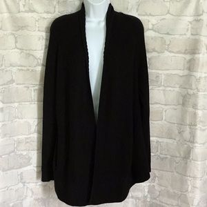 🌈 Helmut Lang Black Wool Open Front Cardigan